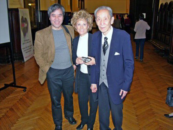 Michio Kushi professzor, a makrobiotika alapítója és Sebestyén Szilvia
