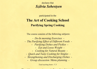 The Art of Cooking School - Purifying Spring Cooking