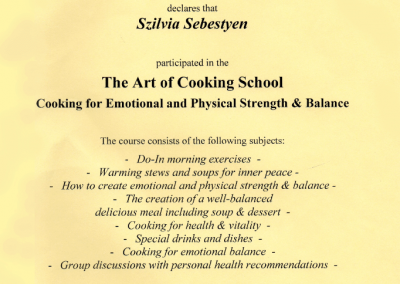 The Art of Cooking School - Cooking for Emotional and Physical Strength & Balance