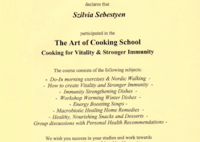 The Art of Cooking School - Cooking for Vitality & Stronger Immunity
