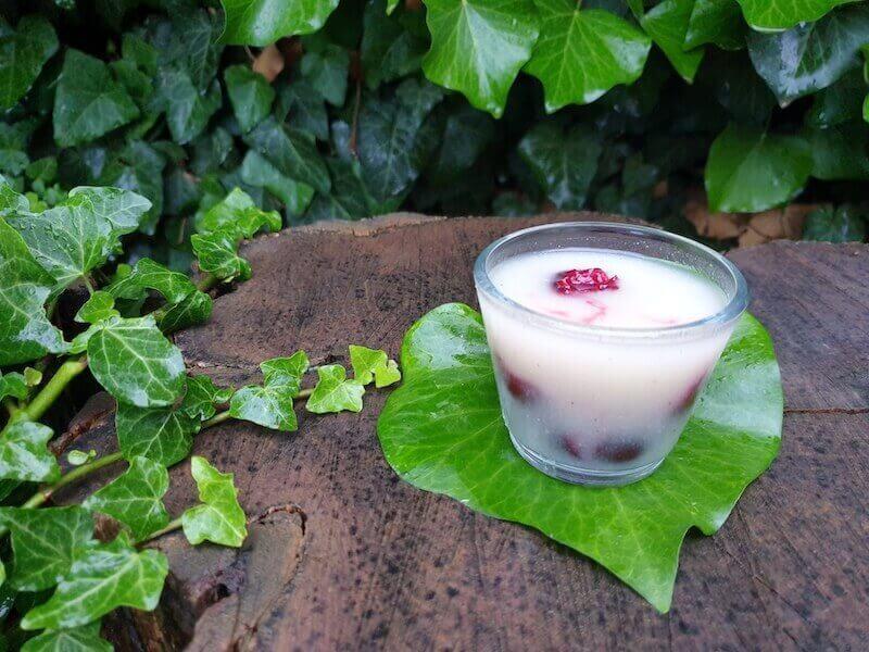 Vanília shake gyümölcs darabokkal
