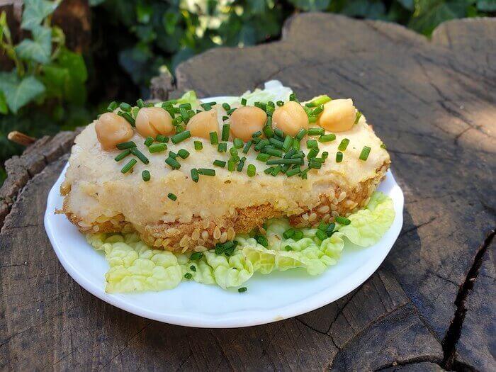 Csicseriborsós krém szendvics